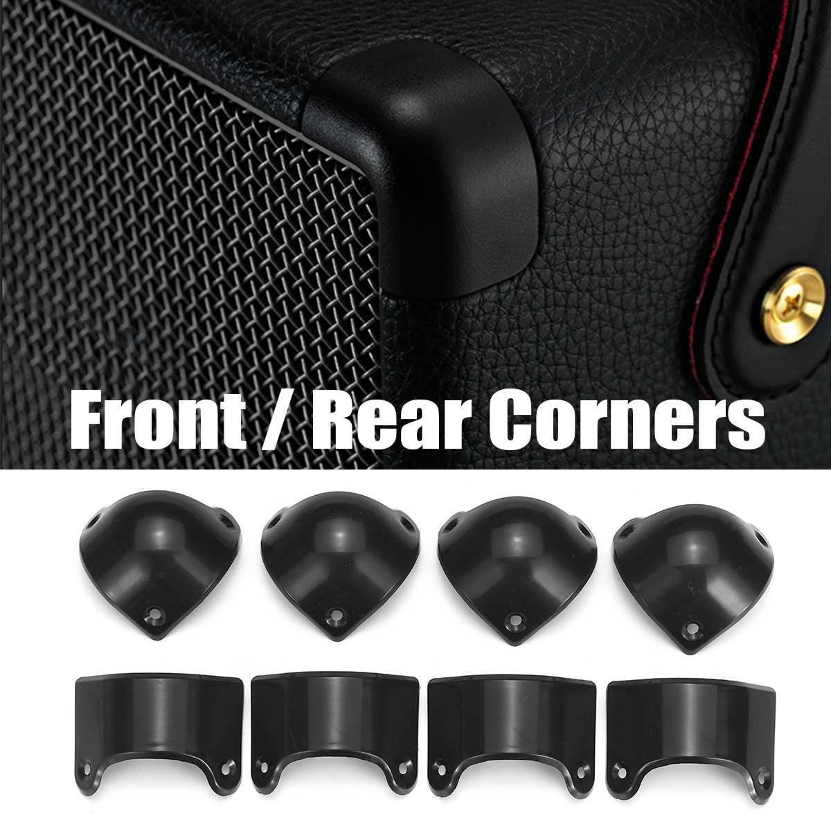 8 pcs 블랙 기타 앰프 스피커 캐비닛 기타 앰프 코너 보호대 마샬 mg 앰프 전면 4 xcorner + 4x 후면 코너, 단일, 단일