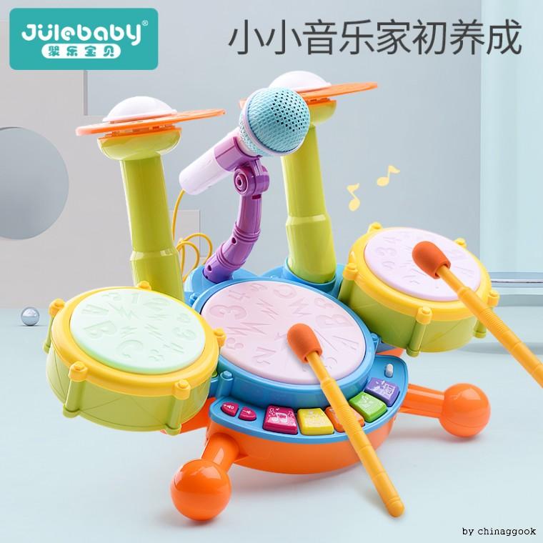 10개월-2세 아기 조교 장난감 드럼, 다기능드럼옐로우5