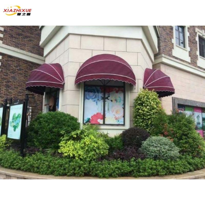 어닝 수박 야외 신축 차양 접이식 반원 커피숍 창문 장식 비덮개, T03-고정 수박 차고 7체크