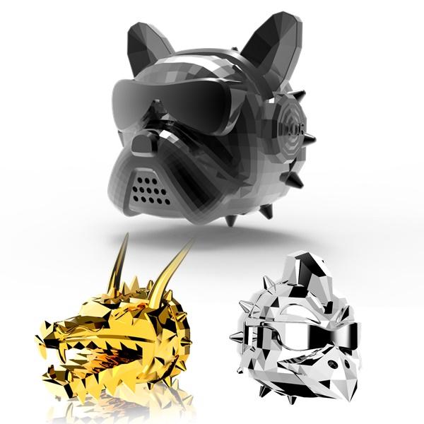 D.O.G 3세대 프렌치불독 황금 용 닭 명품 차량용 방향제 (3종류 선택/ 향 15가지 선택), [와켄] 메탈릭블랙, 블랙체리
