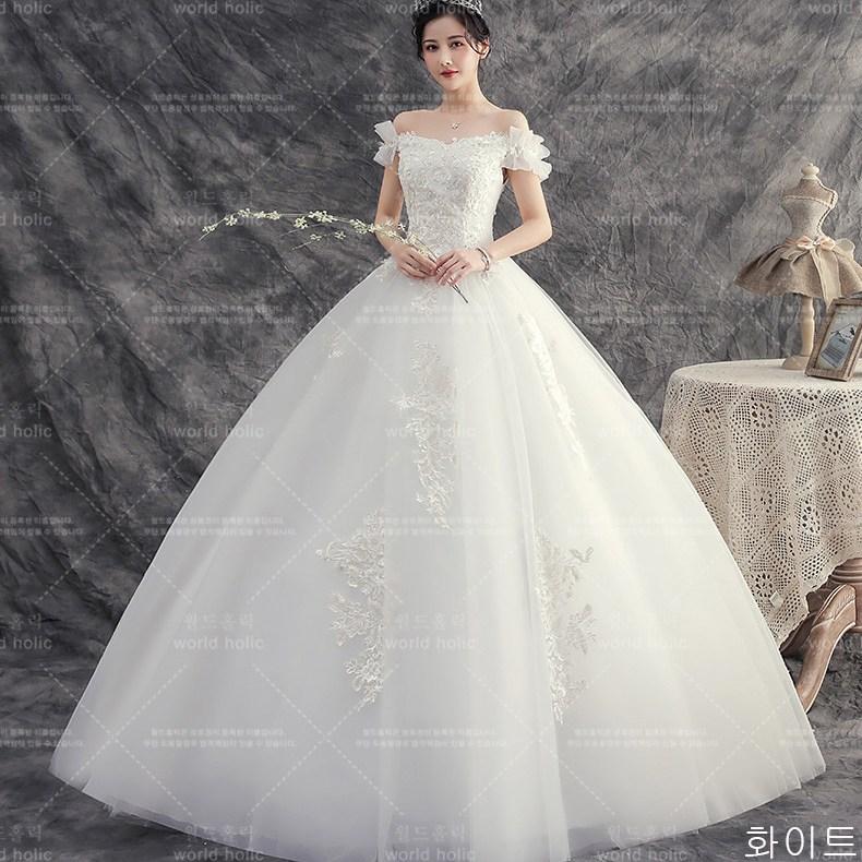 월드홀릭 신부 셀프 웨딩 드레스 lHS06