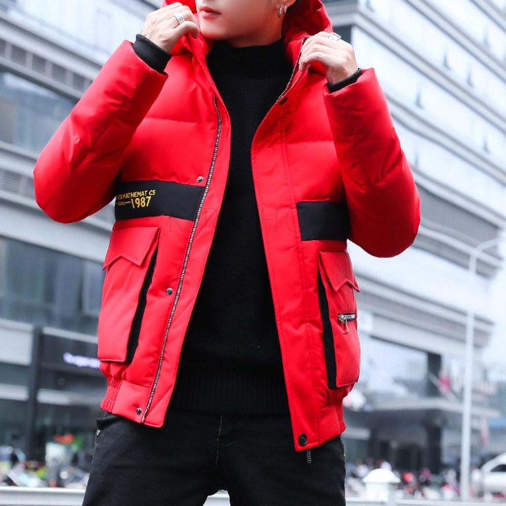kirahosi 남자 블루종 자켓 간절기 패딩 겨울 보온 점퍼 숏 80호+덧신증정 Rql7qr6