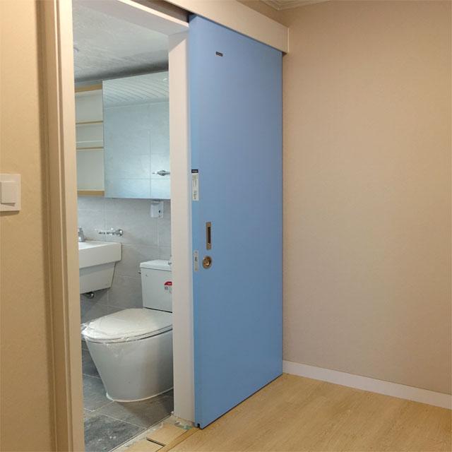 크레홈 슬라이딩도어 미닫이문 화장실문 교체 시공포함, 960mm이하, 2080mm이하
