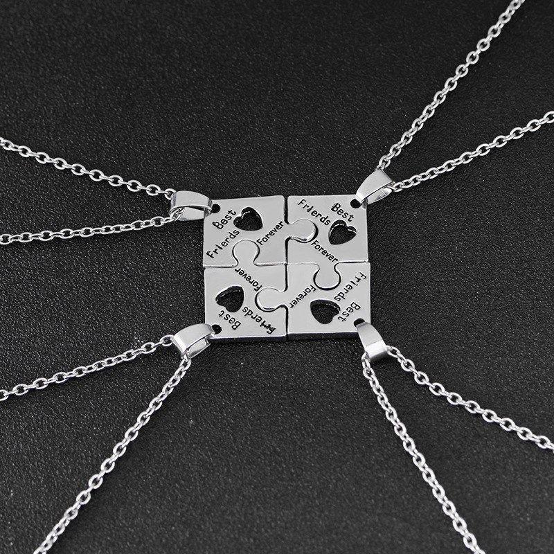 Vaire Jewelry 베스트프렌드 4총사 은도금 우정목걸이우정기념 선물