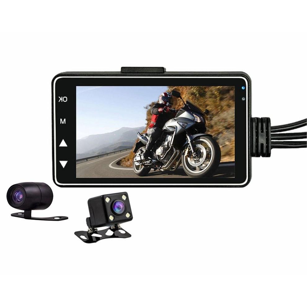 KDsafe 방수카메라 오토바이 블랙박스 2채널 HD 모니터포함, 2채널 블랙박스(메모리미포함)