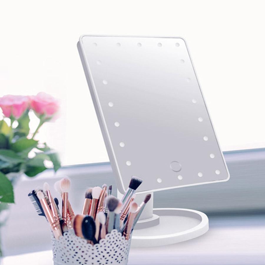 메이크업 LED 조명 사각형 화장거울 탁상거울 화장대거울, 기본