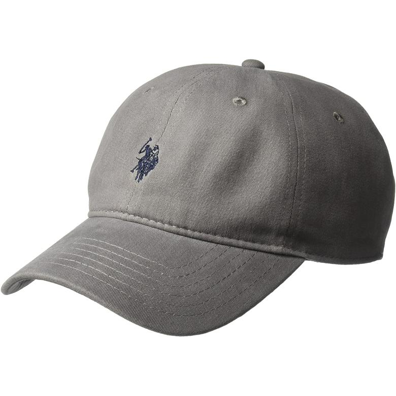 U.S. Polo Assn. 공용모자 Washed Twill Baseball Cap 100% Cotton Dark Grey (미국 정품 직구)