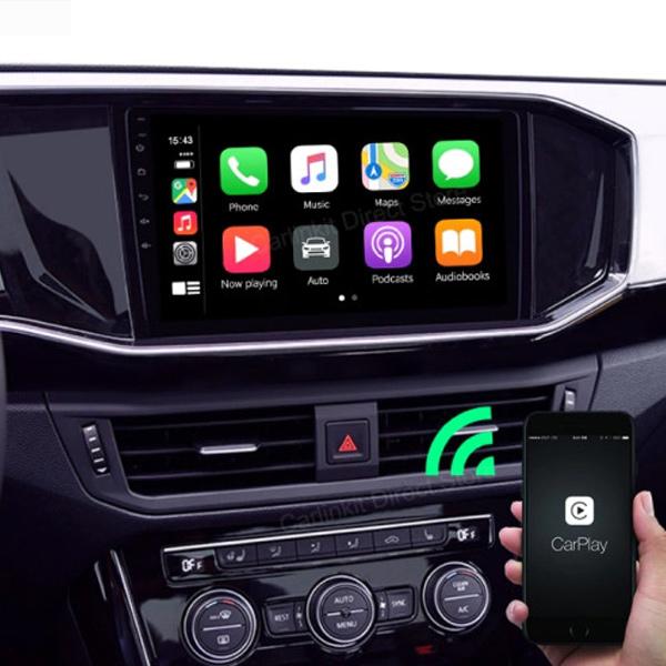 Carlinkit 애플 아이폰 카플레이 carplay 매립내비게이션 미러링, 무선블랙