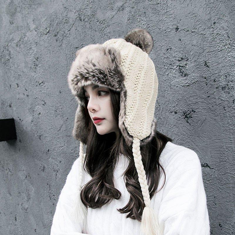 B5559 여성용 겨울 따듯한 털모자
