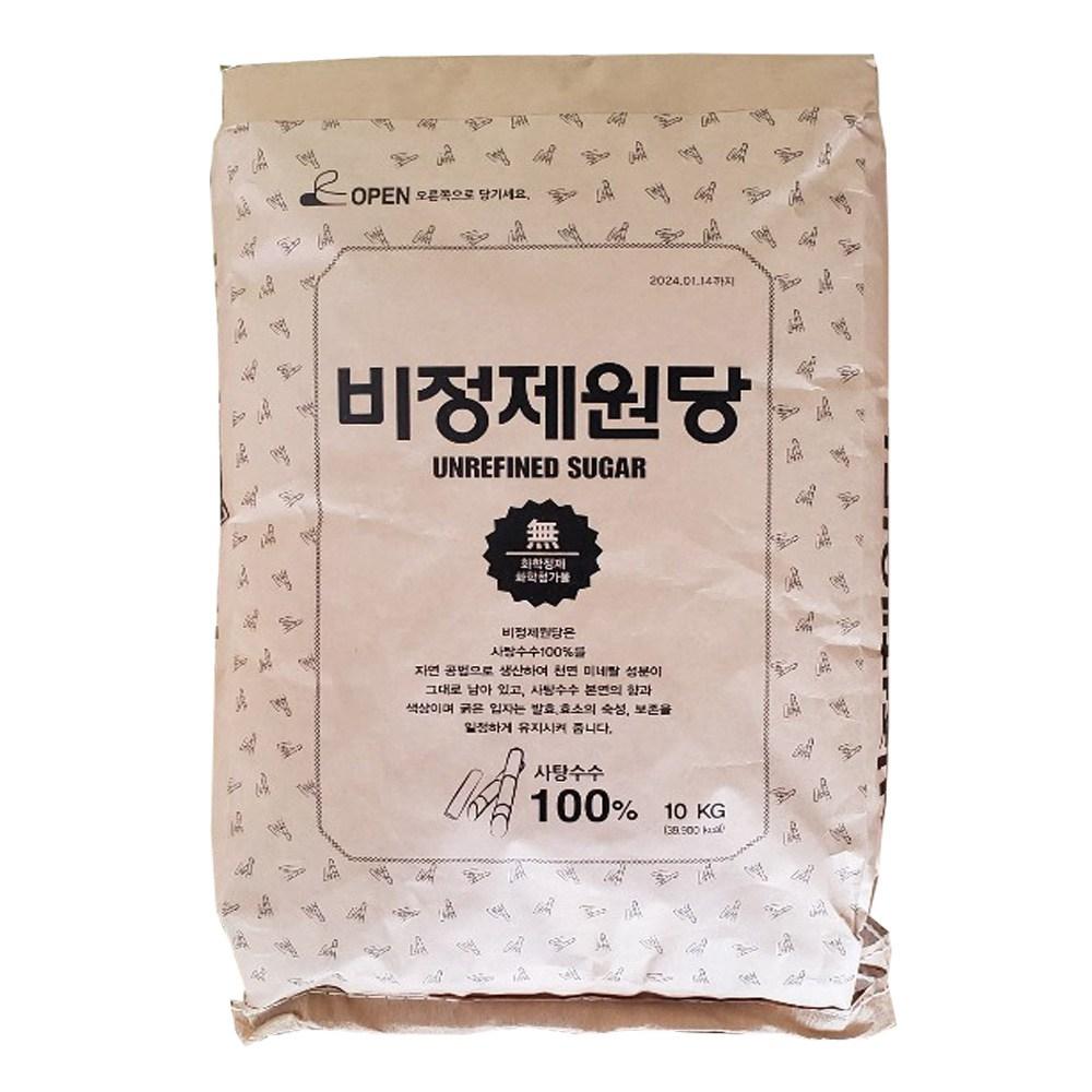 자연미가 비정제 원당 10-20kg(지대)원당, 20kg, 1개