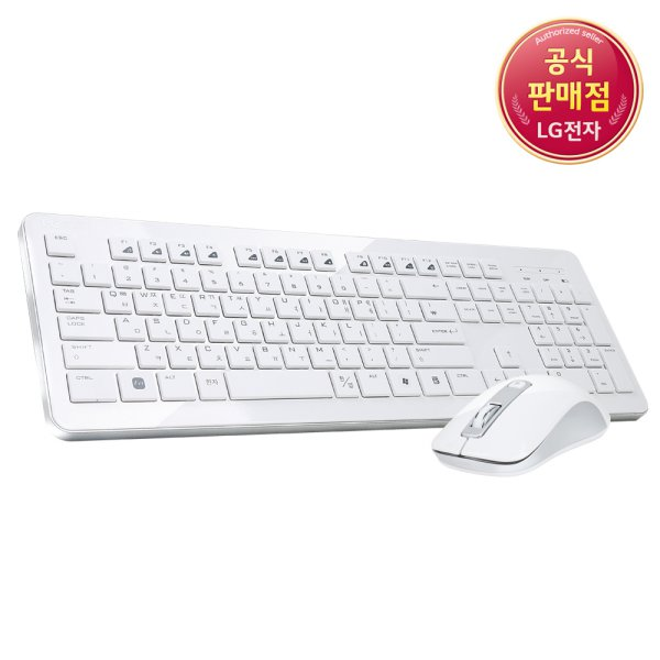 [For LG] 무선키보드마우스세트 MKS-3000 하이그로시 코팅, 화이트, 없음