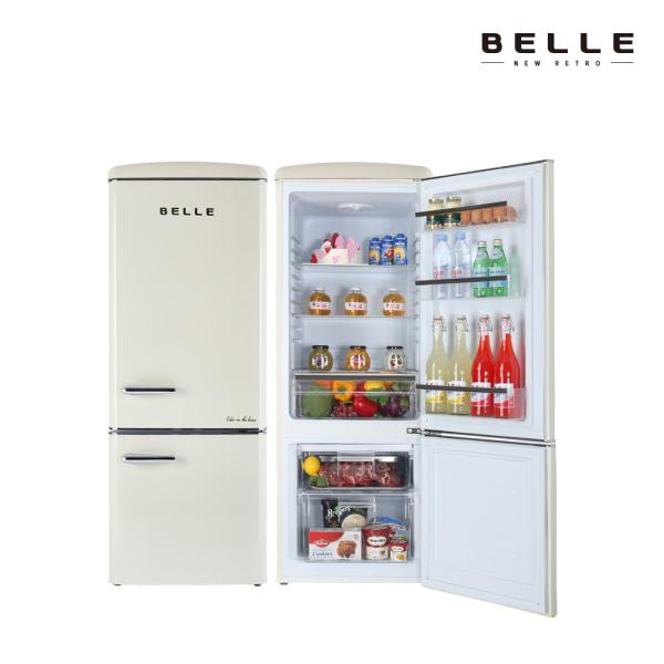 [벨] 뉴레트로 소형 냉장고 NRC20ACM 200L 1등급 콤비냉장고 (2도어/크림), 상세 설명 참조