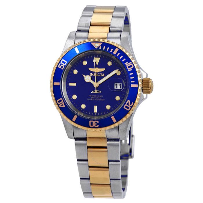 인빅타 프로다이버 투톤 블루다이얼 40mm 남성용 시계 26972 / INVICTA Pro Diver Watch 26972