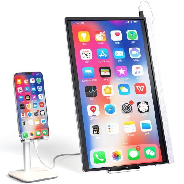 휴대용 포터블 모니터 터치 15.6 휴대용 모니터 1080 IPS 스크린 USB 유형 C HDMI 디스플레이 아이폰 PC 노, 한개옵션0