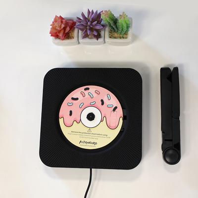 벽걸이 cd 플레이어 축음기 음반 cd 블루투스 cd 플레이어, 삼각스탠드, 블랙
