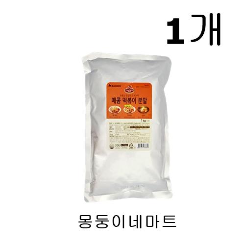 [몽둥이네마트] 대상 쉐프원 매콤 떡볶이 분말 대용량 1kg 맛집 레시피 그대로 정말 맛있는 그 맛 그대로 집에서 나도 먹을 수 있다! 소스, 1개
