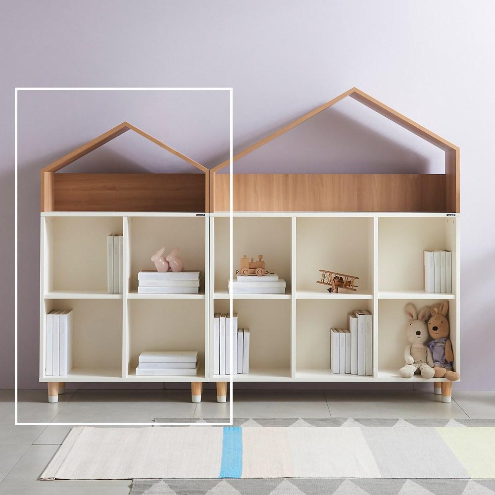 소르니아 뉴수플레 유아동 하우스 2X2 책장, 아이보리