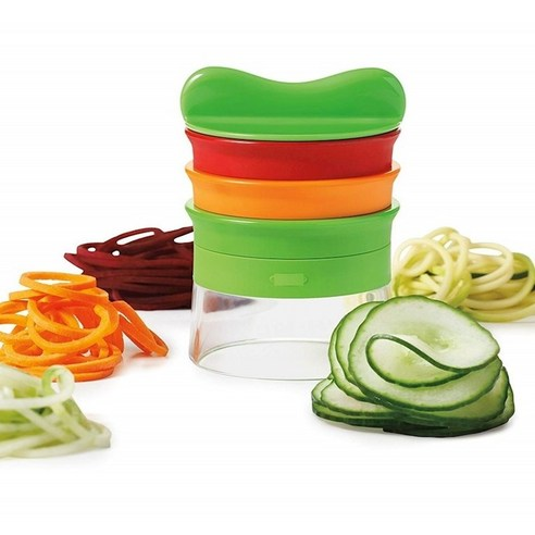채칼 애호박 회전 채썰기 채써는기구 주방 가정용 핸드형 야채 채써는기기, T03-그린색 나선형 채써는기기 _O