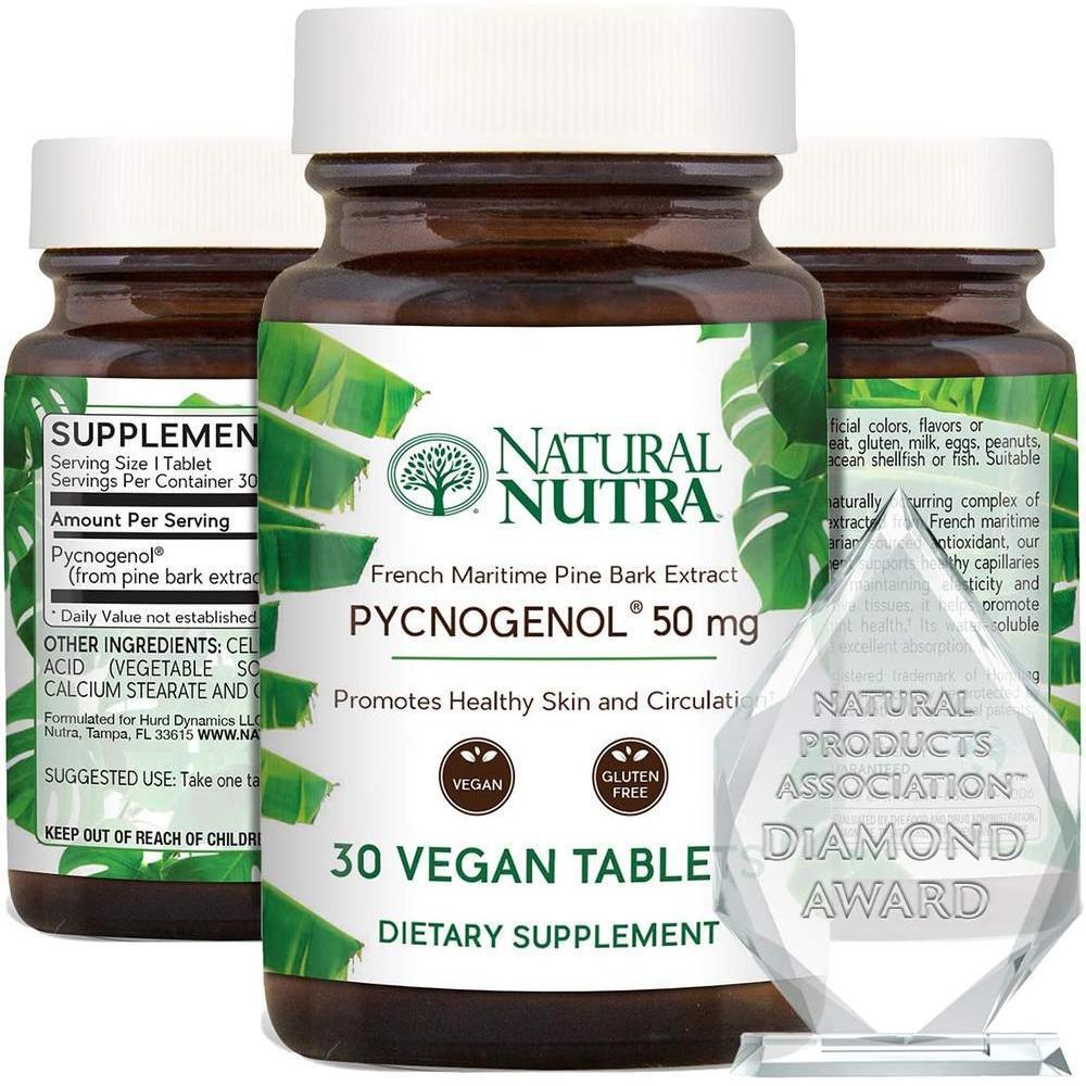 [직구 피크노제놀] Natural Nutra Pycnogenol Premium Supreme French Maritime Pine Bark Extract Supplement Bl, 1set, 1set