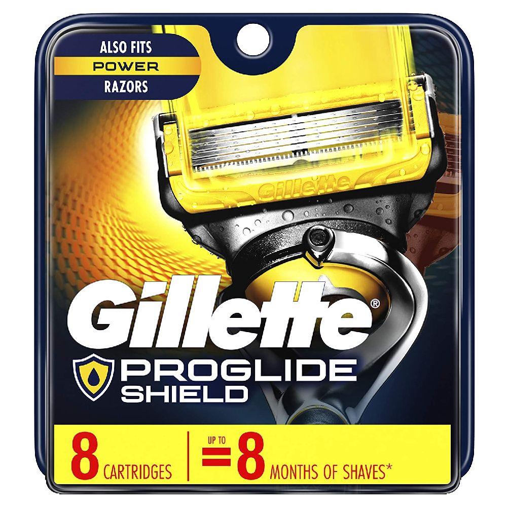 Gillette ProGlide 쉴드 남성 면도기 블레이드 8 블레이드 리필, 8 Refills, 상세페이지참조