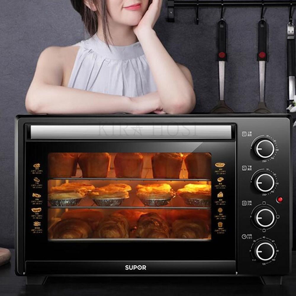 kirahosi 미니 오븐 디지털 바베큐 토스터 스팀 오븐 렌지 신상품 127호 N8l0kj, 블랙