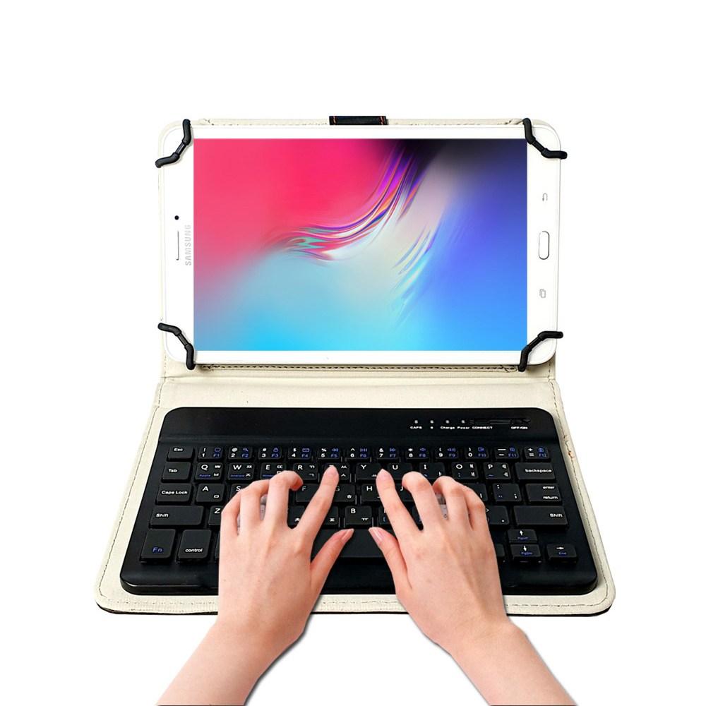 모디슨 태블릿PC 7.0~8.4인치 전기종 공용 블루투스 키보드 케이스, 블랙 IK1100-MU, 디클 탭 플레이 8.0