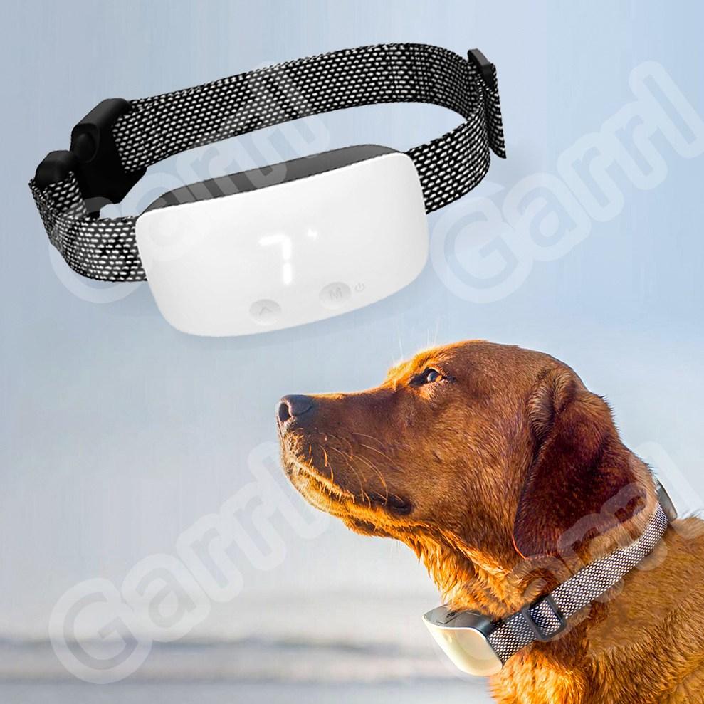 Garrl 강아지 전기목걸이 짖음방지기 강아지훈련용 충전식 터치스크린 방수