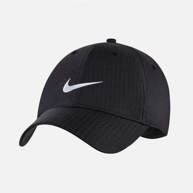 나이키 LEGACY91 테크 스우시 골프 캡 모자 블랙