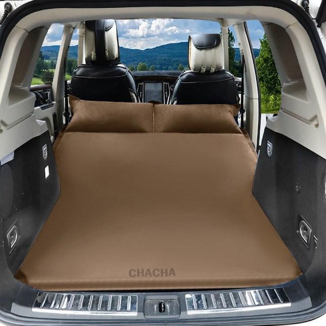 chacha 차량용 에어매트 RV SUV 뒷좌석 매트 자동차 침대18종 팰리세이드 올뉴카니발 스포티지 싼타페, 선택7 커피브라운(벨벳)