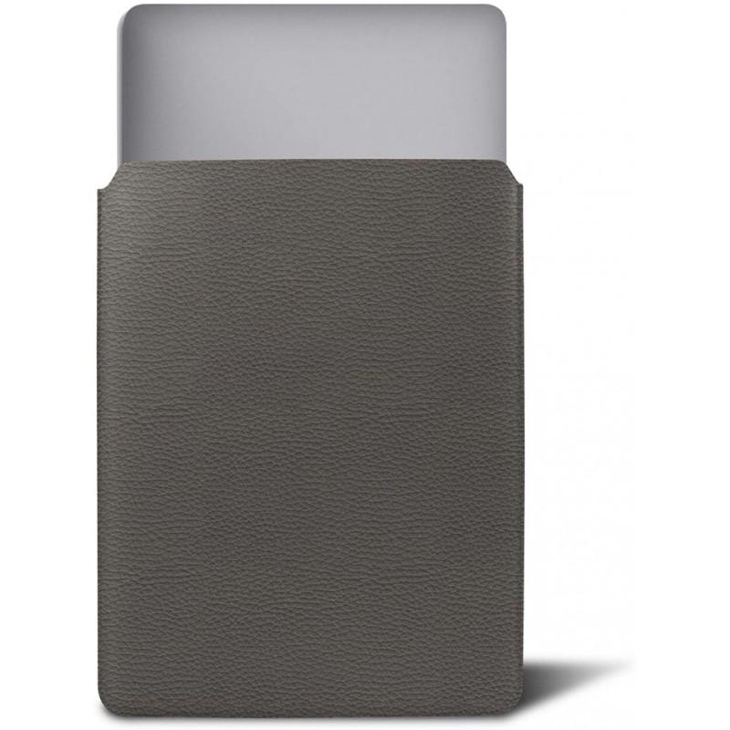 루크린 - 맥북 호환 커버 - 마우스 그레이 - 가죽 곡물©, 단일상품