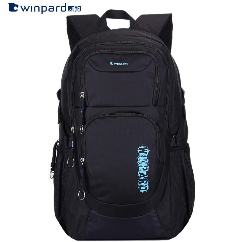 위표범(WINPARD) 남녀 여행여행 여행 가방 가방 가방 가방 가방 컴퓨터 가방 중학생 중학교 고등학생 운동 캐주얼 가방 대용량 대용량 블랙체크(블루 프린터)