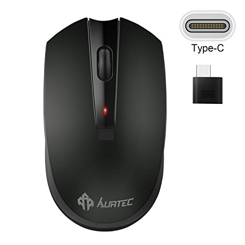 무선마우스 Type C Wireless Mouse AURTEC 2.4GHz USB-C Wireless Mice for Laptop and More USB-C Devices, 본문참고