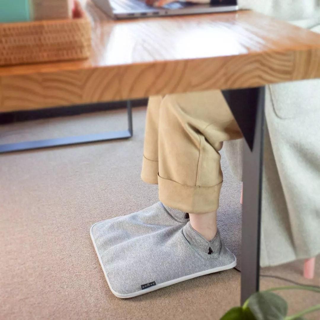 전기발난로 발열매트 가정용 사무실 풋워머 발히터 수족냉증 발난로 보온매트, 그레이