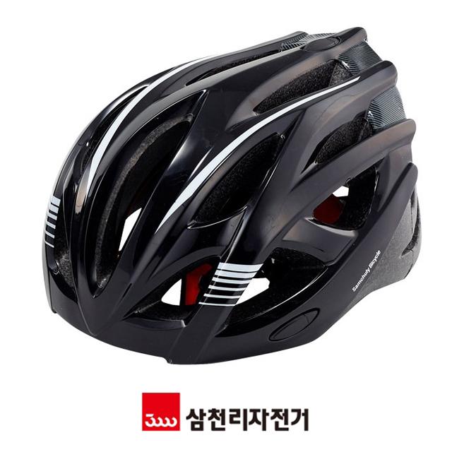 [일스포츠] 삼천리자전거 SH 340 자전거헬멧 안전모자 성인 주니어, [일스포츠] 삼천리헬멧340_블랙