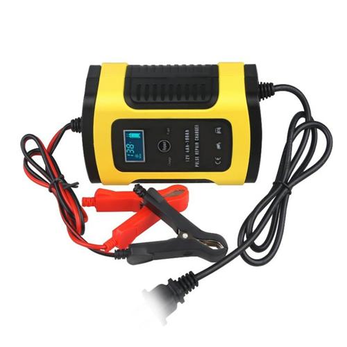 자동차 배터리 충전기 과열 방전 방지 LCD 12V 24V, 선택(1) 12vⓛCCT00491.01개