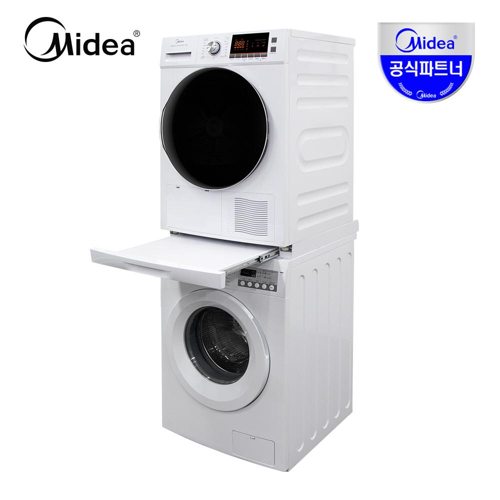 Midea 트윈타워 10kg 의류건조기 + 9kg 드럼세탁기