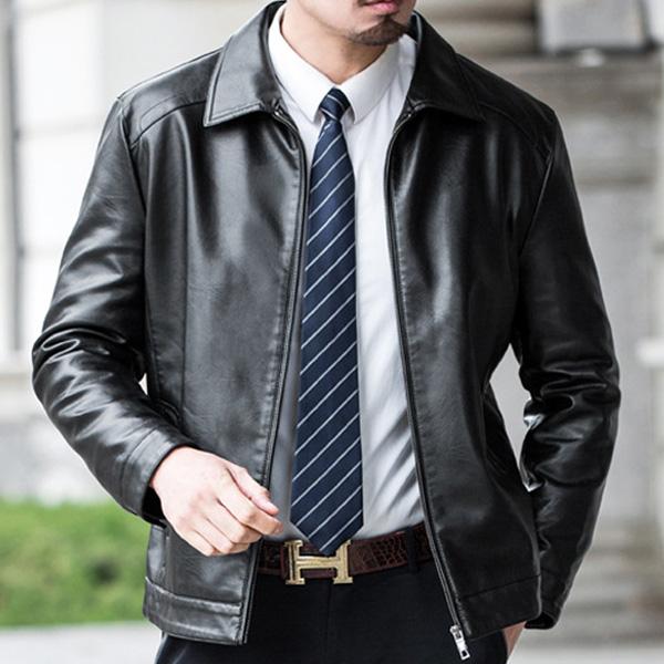 장바9니 마이크 남성가죽자켓 클래식 디자인 남자 레더점퍼