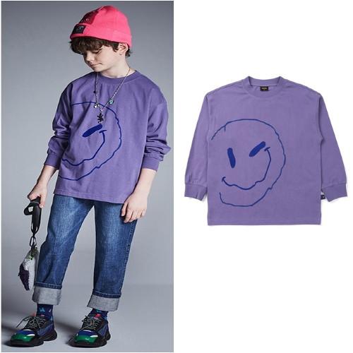 [블루테일]AUG1TS03VI 바이올렛 스마일 티셔츠