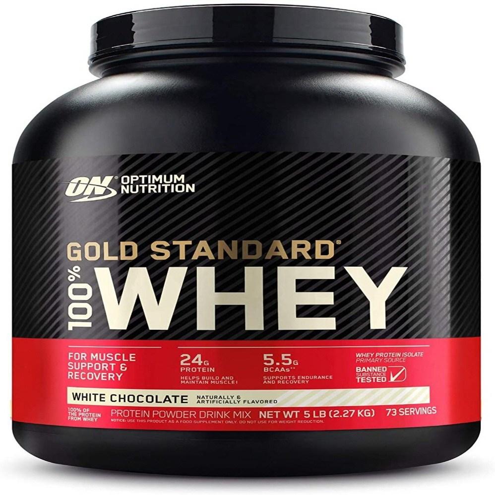 옵티멈 뉴트리션 골드 스탠다드 100% 웨이 프로틴 파우더 화이트 초콜릿 2.27kg, 1개