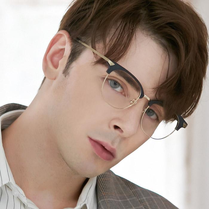 어나더루트 티타늄 안경테 빅사이즈 초경량 남자 메탈콤비 가벼운안경 하금테 오버사이즈 빈티지 아시안핏