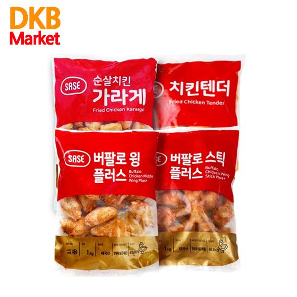 사세 치킨 4종 SET (버팔로윙 플러스+버팔로스틱 플러스+순살치킨가라게+치킨텐더)사세, 1set