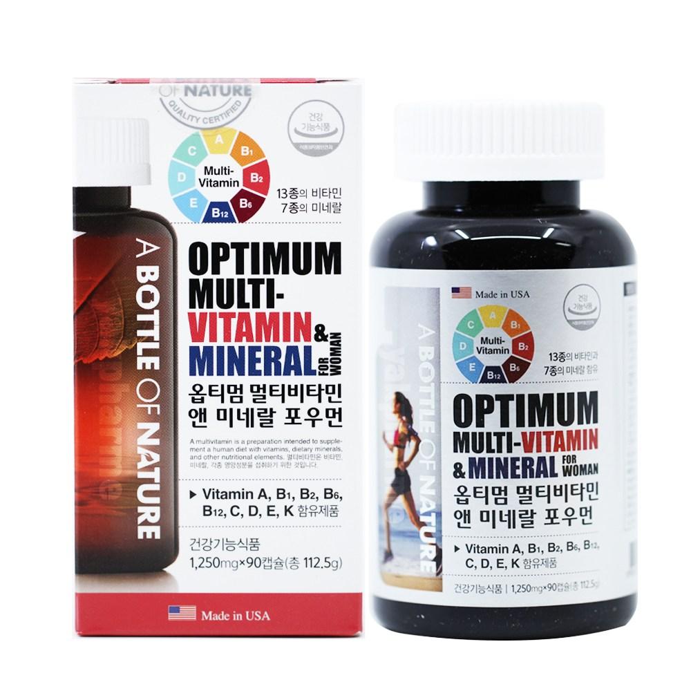 멀티 비타민 포우먼 여성 종합 영양제 1250mg 90캡슐