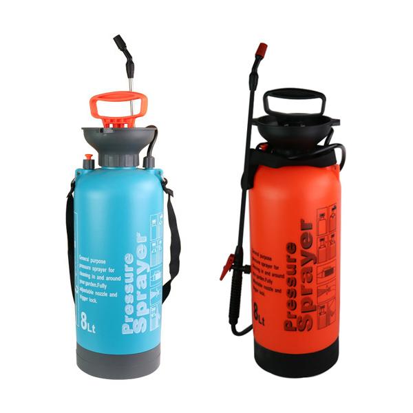 슈페리온 휴대용 분무기 8L용량-색상랜덤발송 소독약 소독기 고압압축기 방역 청소 세차 프리워시, 1개