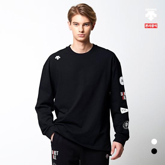 데상트 [40% OFF]3X3 농구 라이센스 남녀공용 긴팔 티셔츠 (S9323HTL81)