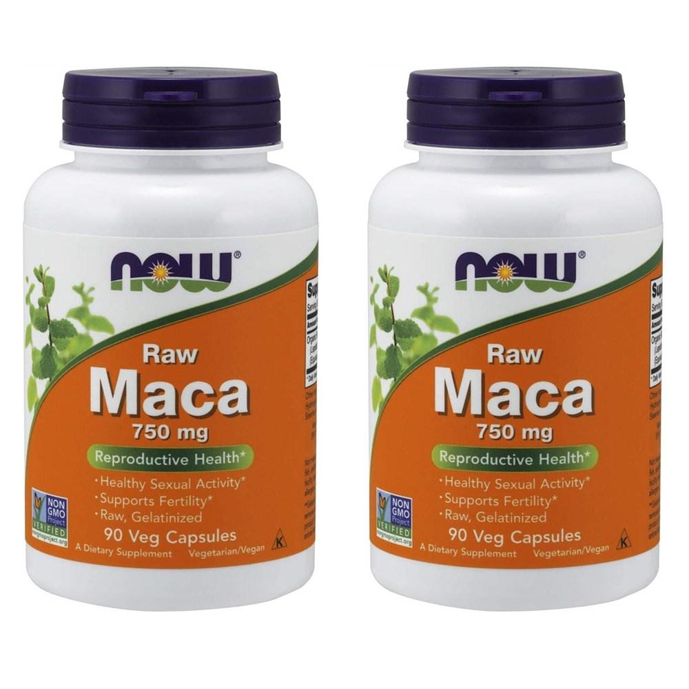 Now Raw Maca 750mg 나우 로우 마카 90베지캡슐 2팩, 90개입, 2병