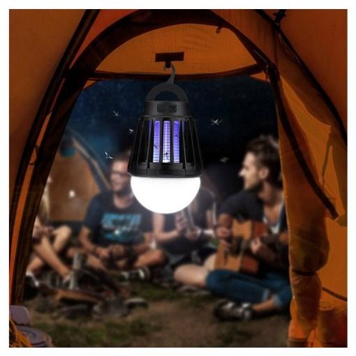 캠핑랜턴 LED 가정용렌턴 USB충전식 생활방수 물세척 안티모기 해충박멸, 레드