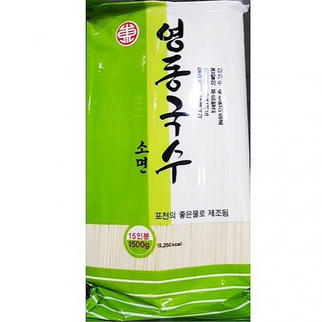 엠마트 영동 잔치 소면 국수 1.5K 1봉 중면, 1