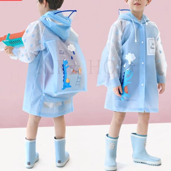 kirahosi 여름 아동 우비 남아 여아 유치원 아기 초등학생 우의 47호+덧신증정 BFkpqmn5