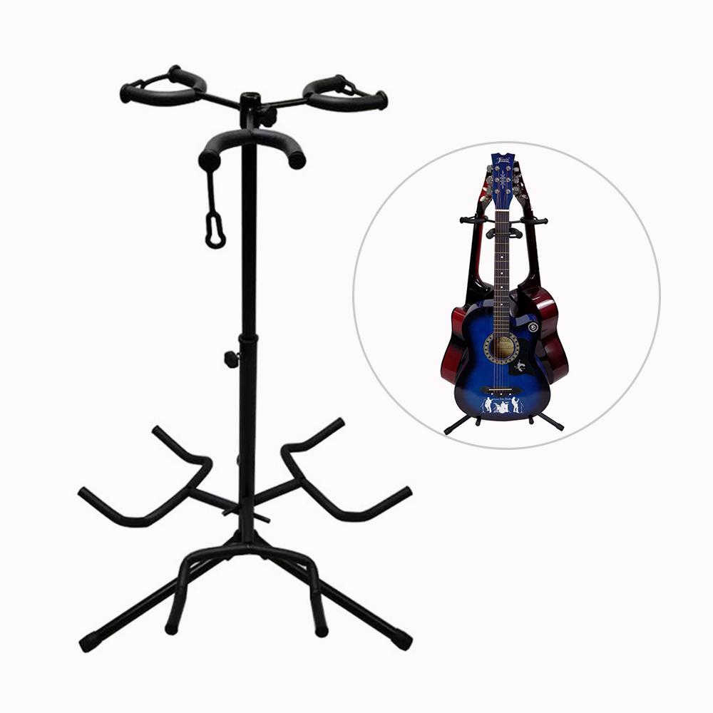ammoon L3 3단 기타 스탠드 조정가능 거치대 기타받침대, 블랙