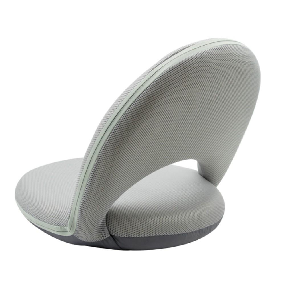 편안한 여름방학좌식의자 등받이의자 접의자 수유의자 허리좋은, 회색 5 단 조절 고정형 스폰지
